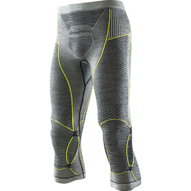 X-Bionic Apani Merino By X-Bionic Fastflow Medium Lang Ondergoed Heren, black/grey/yellow